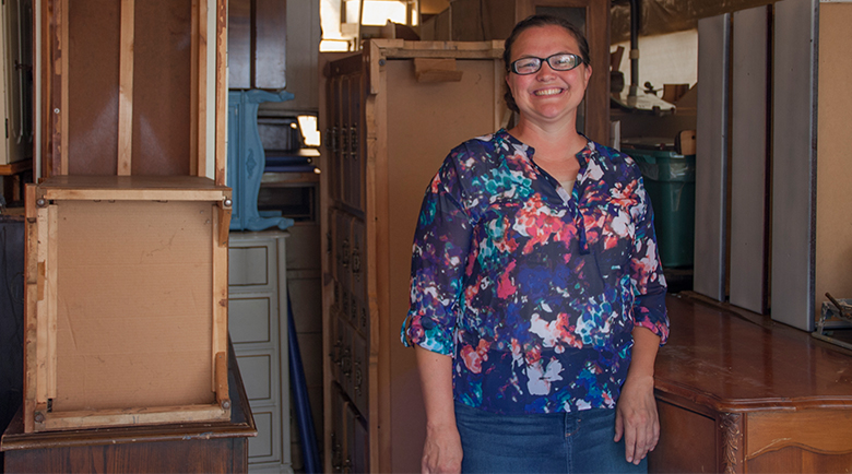 Michigan City Woman Transforms Old Furniture Into Works of Art