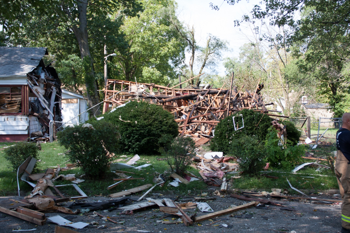 Explosion Levels Michigan City Home, Road Closed