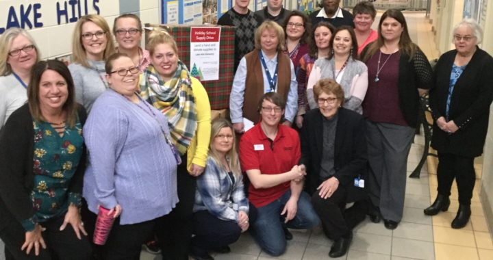 Michigan City Office Max Donates Supplies to Local School